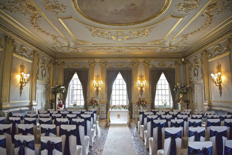 stucco ball room at knowsley Hall