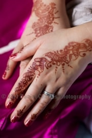 Beautiful henna tattooing - just the start of an amazing colour fest!