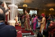 Anita steps onto the mandap