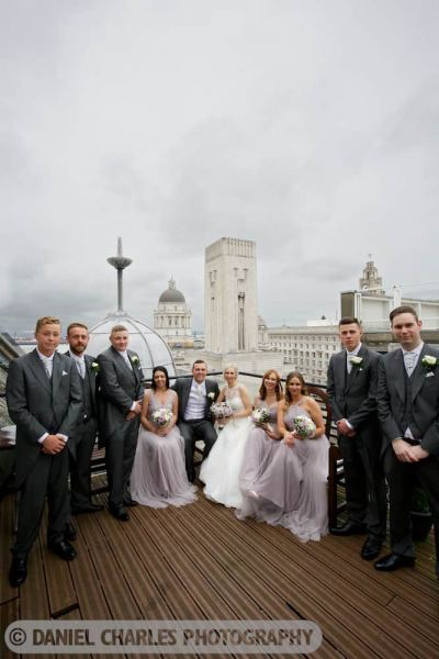 colour photo of bridal party