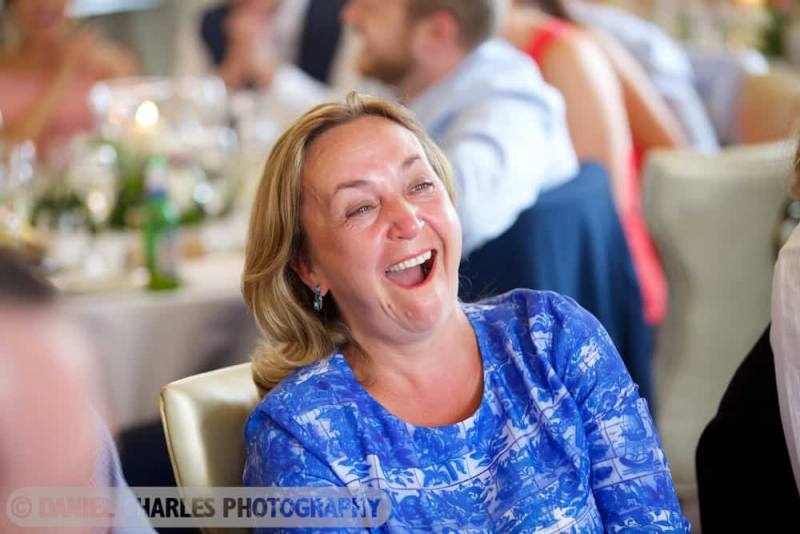 guest laughing at best man speech 30 james street liverpool wedding photography