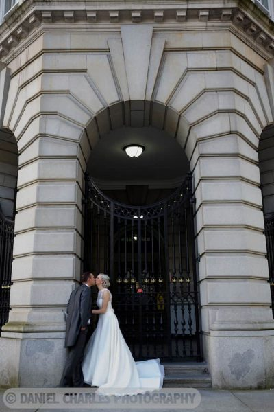 bride and groom in archway liverpool wedding photographer