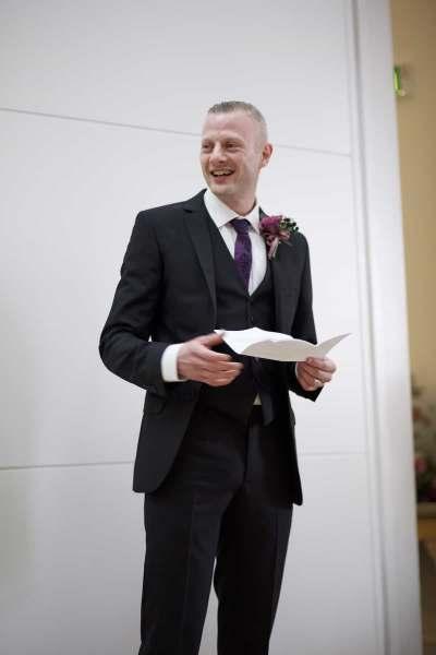 the groom begins his wedding speech