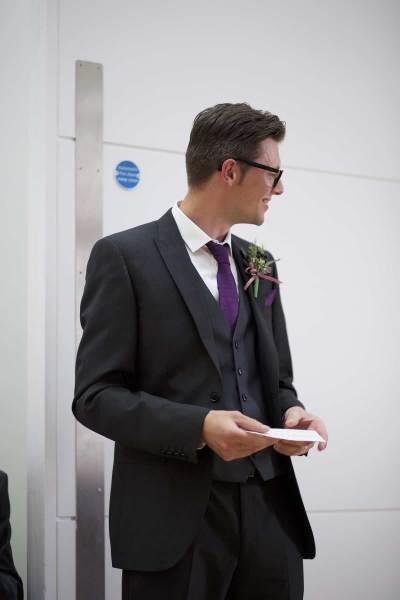 best man making his wedding speech