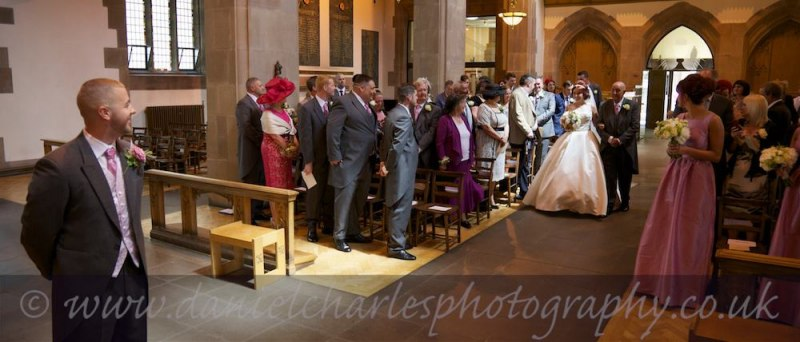 wedding photo in St Nicholas', Liverpool Parish Church