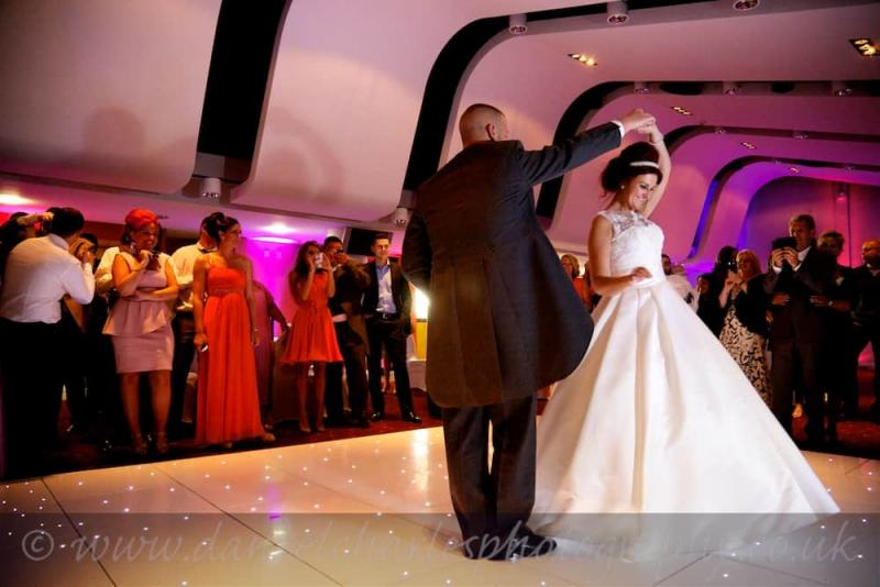 first dance at aintree racecourse wedding