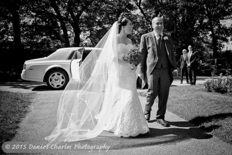 black and white wedding photograph by daniel charles photography
