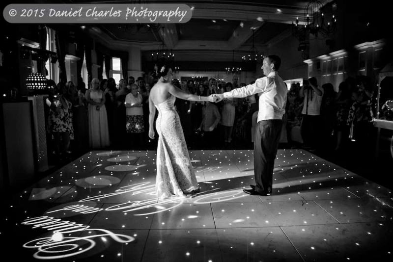 first dance  at leasowe castle wedding
