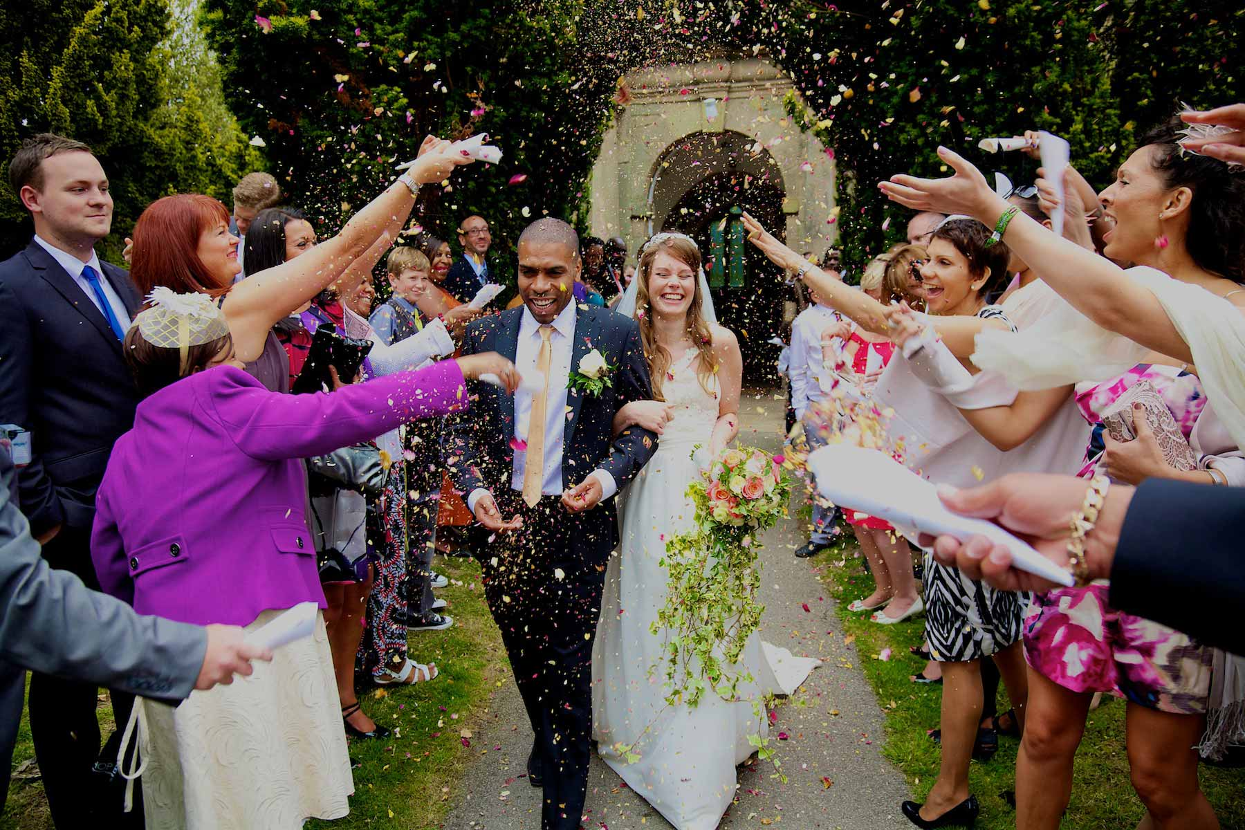 Bright and colourful - best confetti shot ever!