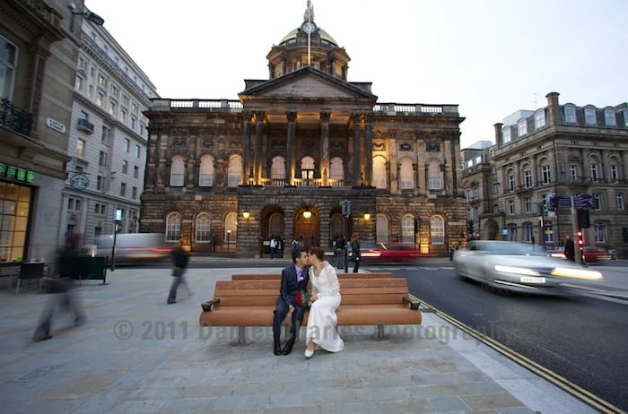 Liverpool Town Hall bride and groom
