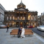 Couple in front of Liverpool Town Hall
