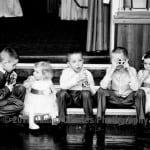 Five seated children