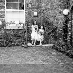bridesmaids approach the hall at bluecoat chambers