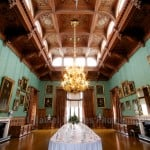 The dining room at Knowsley Hall