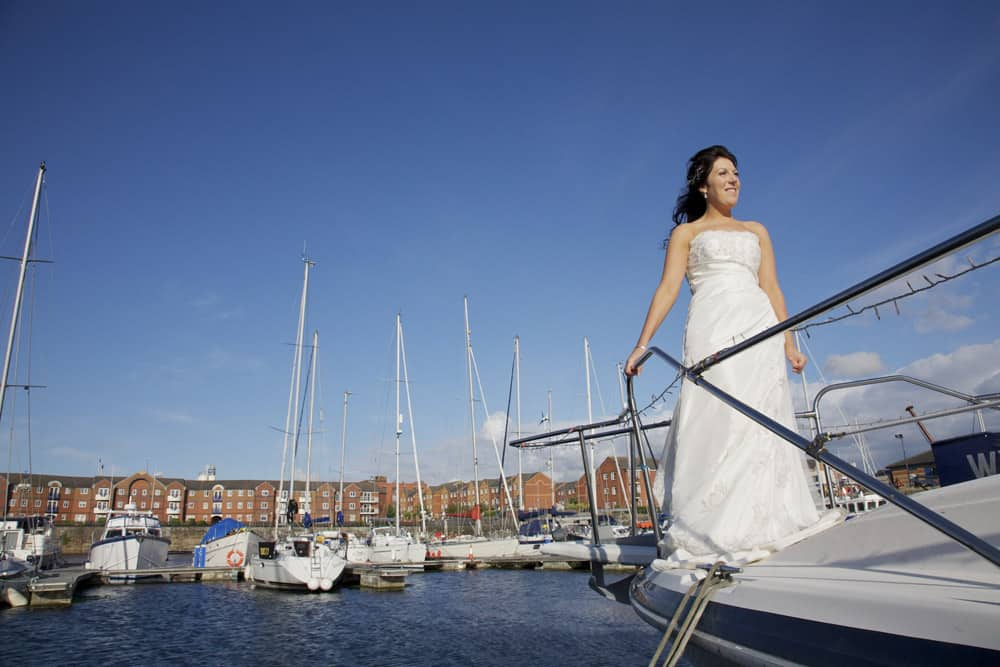bride's 'Titanic' moment