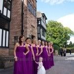 bridesmaids at Inglewood Manor, Cheshire