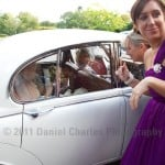 Arrival of the bride at Inglewood Manor, Cheshire